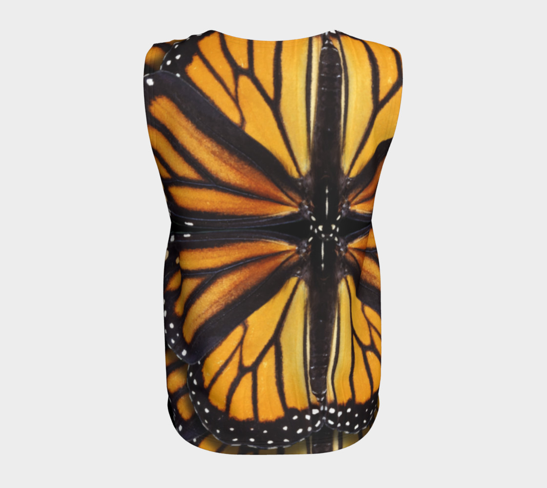 Monarch Butterfly Asymmetrical Loose Tank Top preview #6