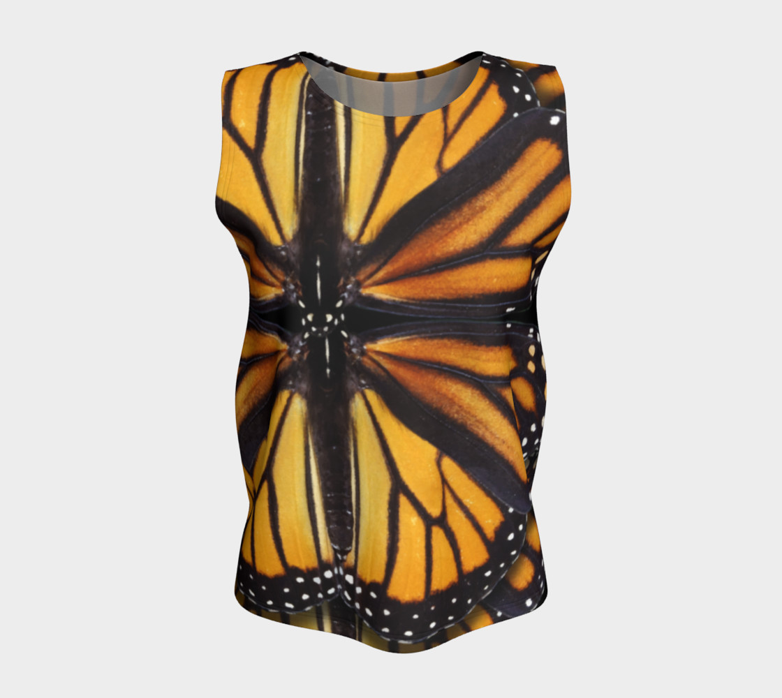 Monarch Butterfly Asymmetrical Loose Tank Top preview #5