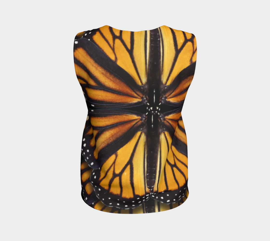 Monarch Butterfly Asymmetrical Loose Tank Top preview #2
