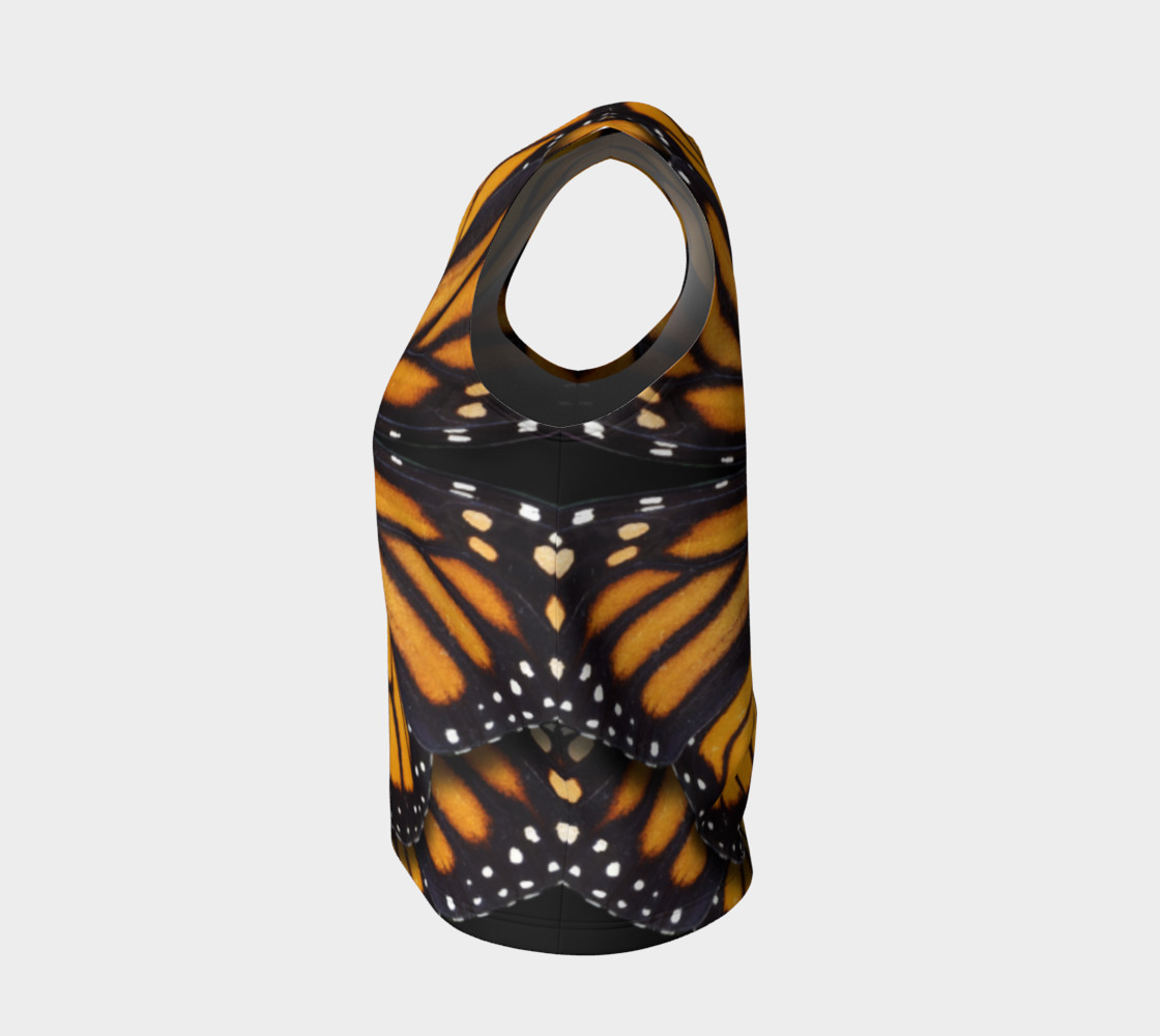 Monarch Butterfly Asymmetrical Loose Tank Top preview #3