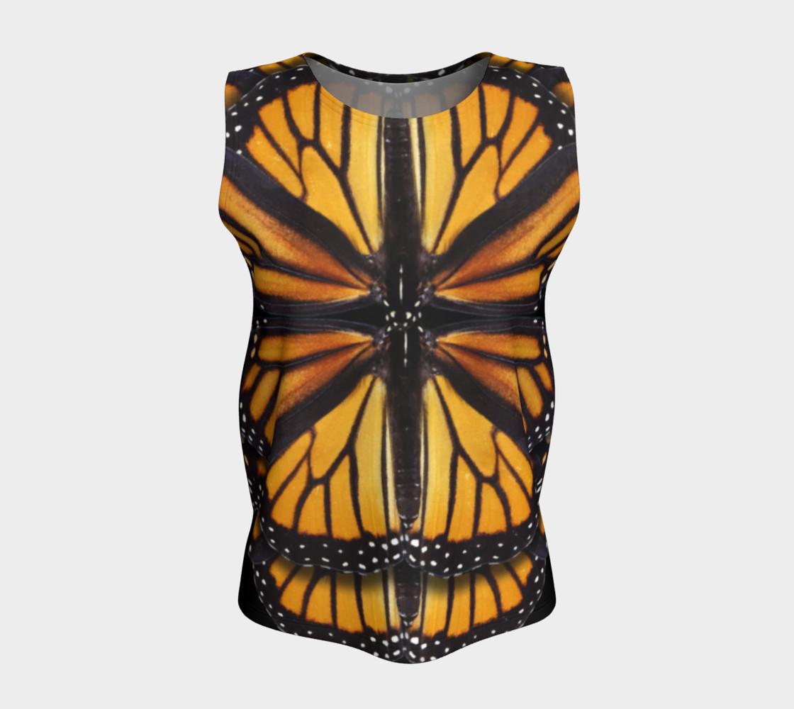 Aperçu de Monarch Butterfly Symmetrical Loose Tank Top #5