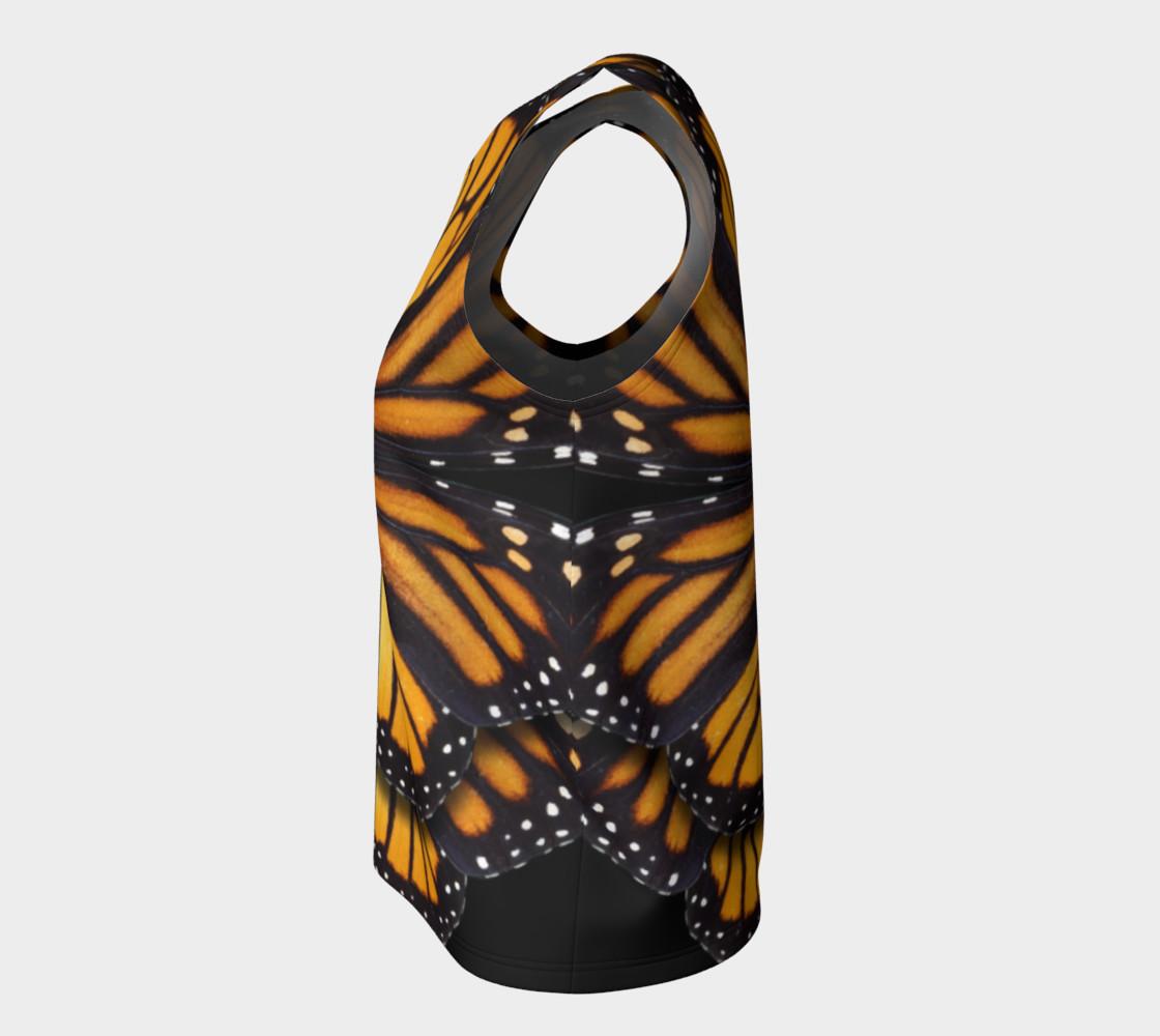 Aperçu de Monarch Butterfly Symmetrical Loose Tank Top #7