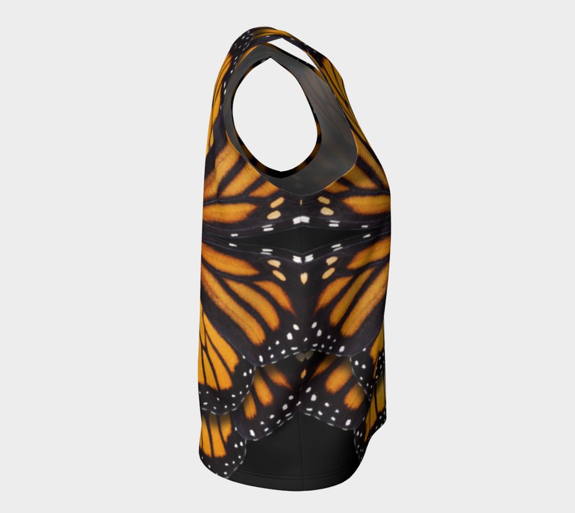 Aperçu de Monarch Butterfly Symmetrical Loose Tank Top #8