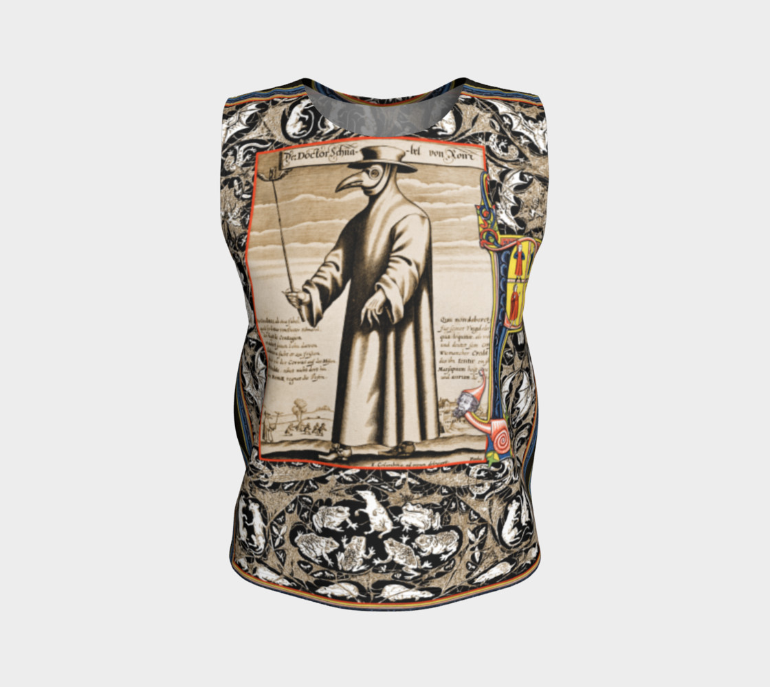Aperçu de P is for Plague Doctor - Loose Tank Top #1