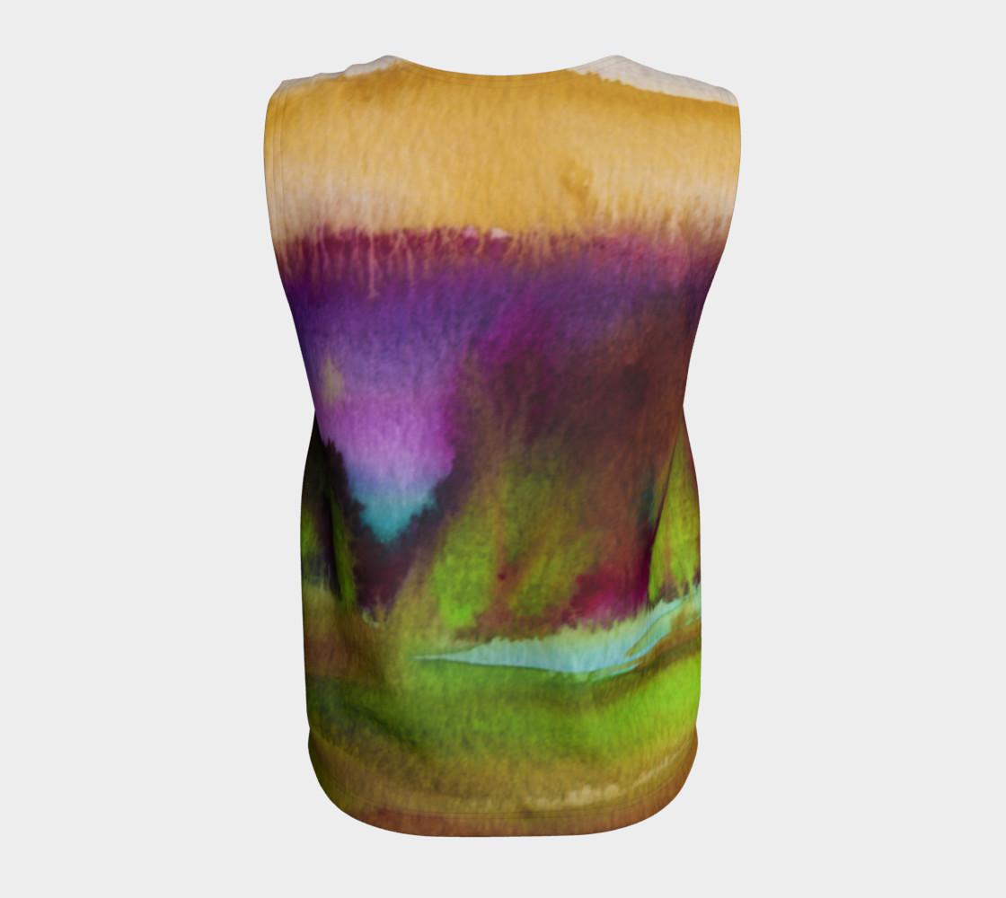 Colorful Watercolor Loose Tank preview #6
