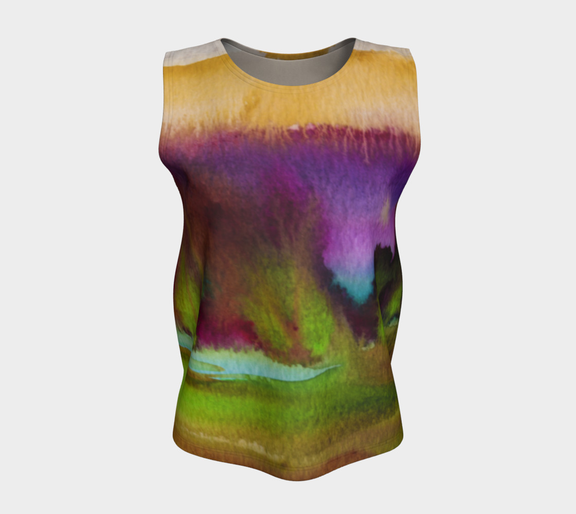 Colorful Watercolor Loose Tank preview #5