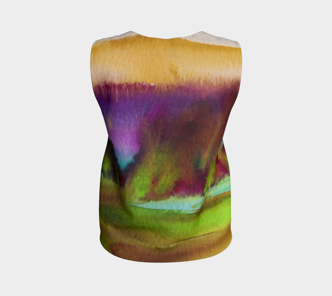 Colorful Watercolor Loose Tank preview #2