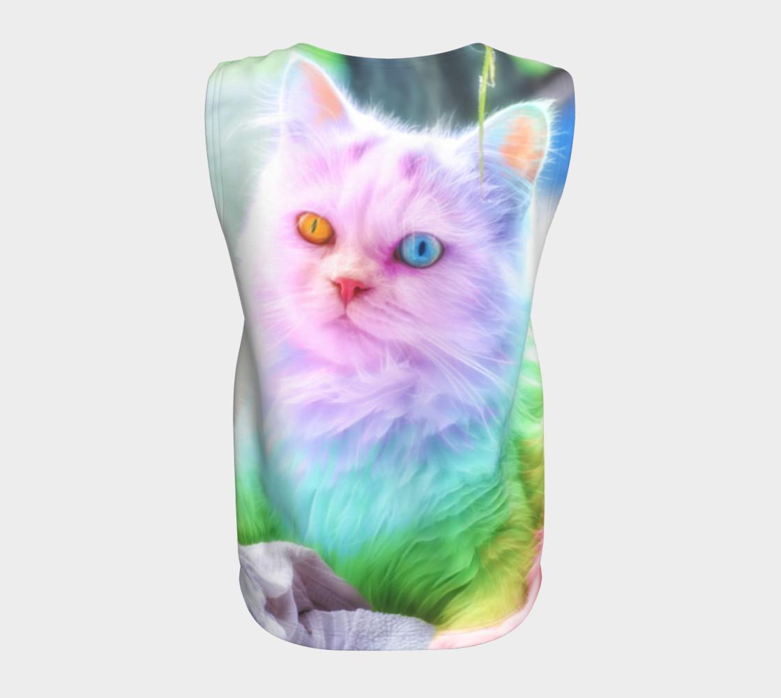 Unicorn Rainbow Cat Tank Top preview #6