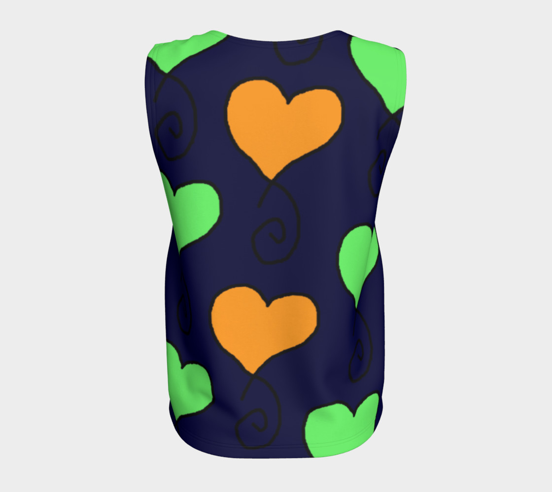green and orange hearts on very dark blue preview #6