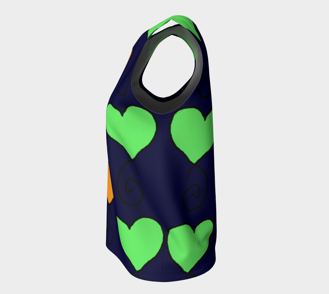 green and orange hearts on very dark blue preview #7