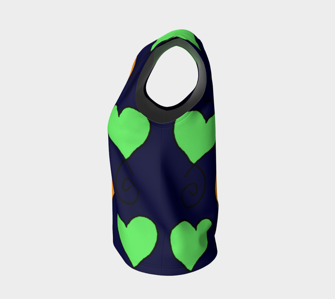 green and orange hearts on very dark blue preview #3
