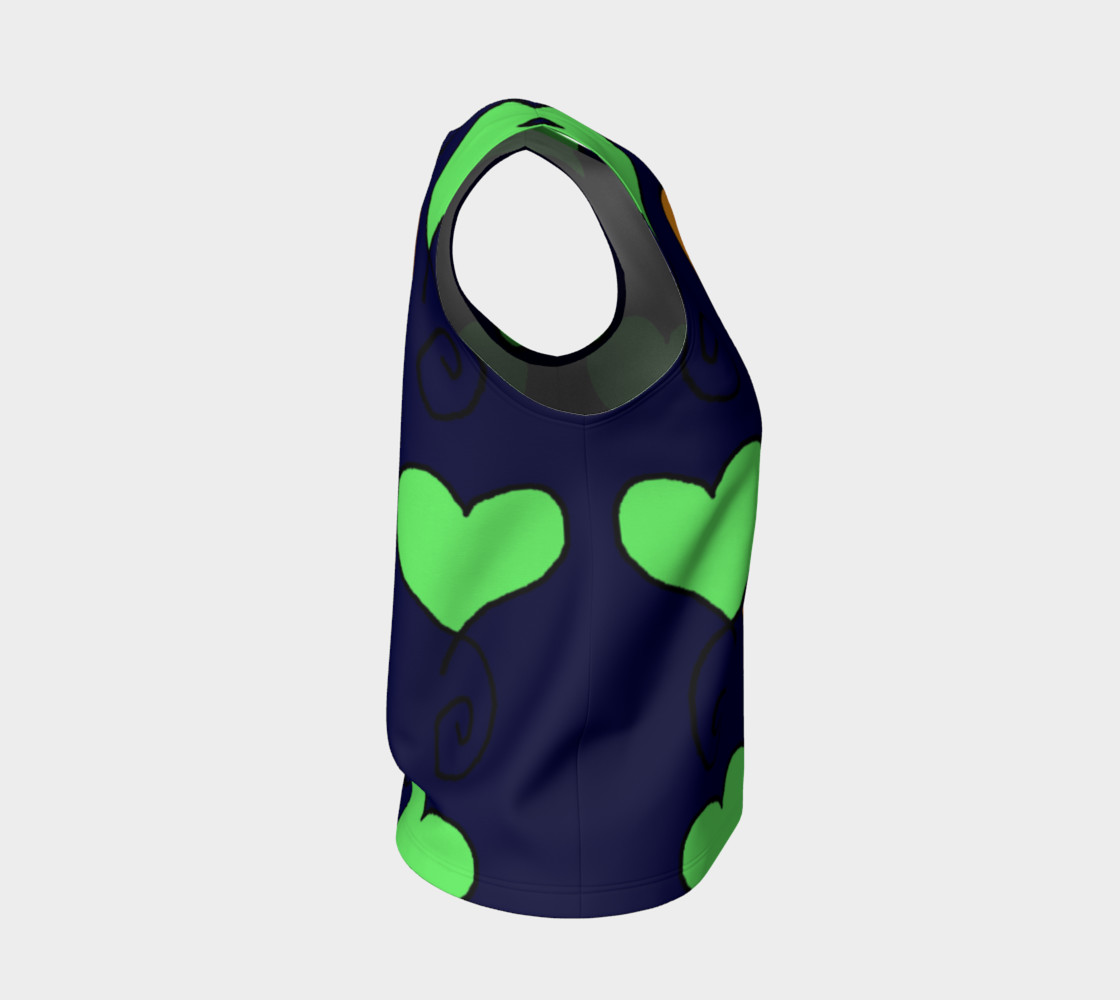 green and orange hearts on very dark blue preview #4