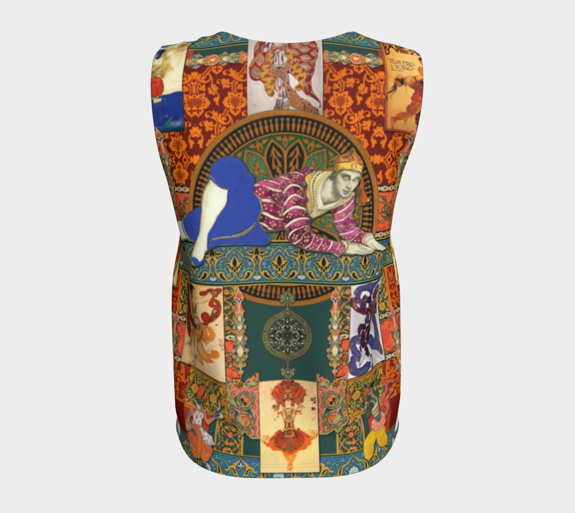 Aperçu de Ballets Russes Tapestry - Loose Tank Top #6