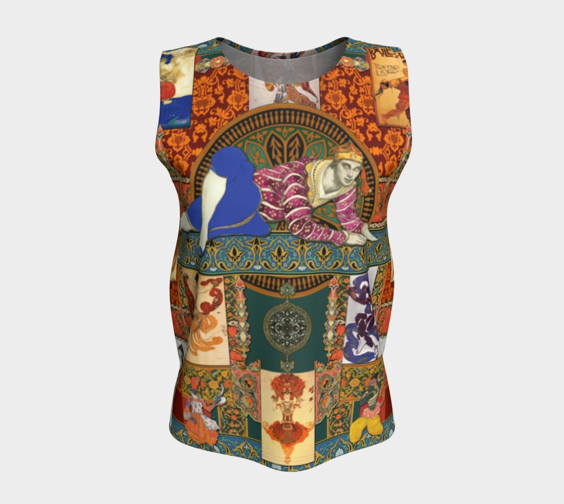 Aperçu de Ballets Russes Tapestry - Loose Tank Top #5