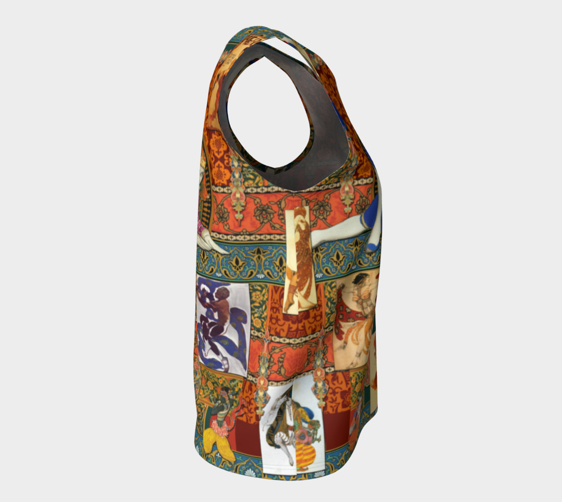 Aperçu de Ballets Russes Tapestry - Loose Tank Top #8