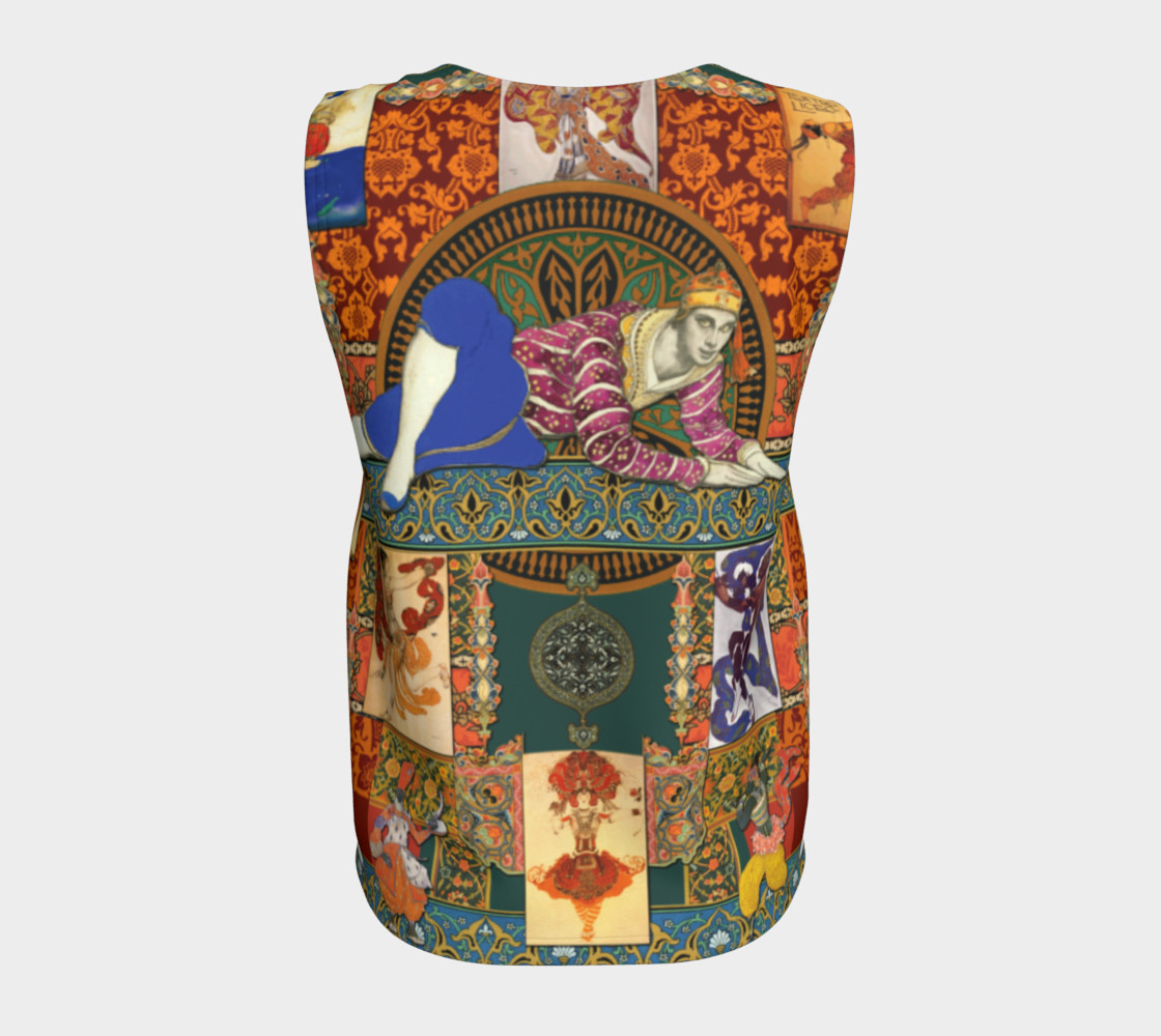 Aperçu de Ballets Russes Tapestry - Fitted Tank Top #6