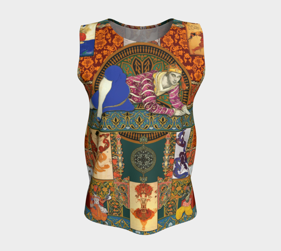Aperçu de Ballets Russes Tapestry - Fitted Tank Top #5