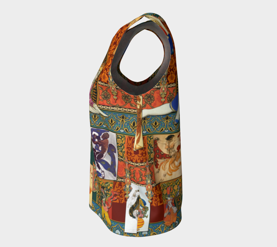 Aperçu de Ballets Russes Tapestry - Fitted Tank Top #7