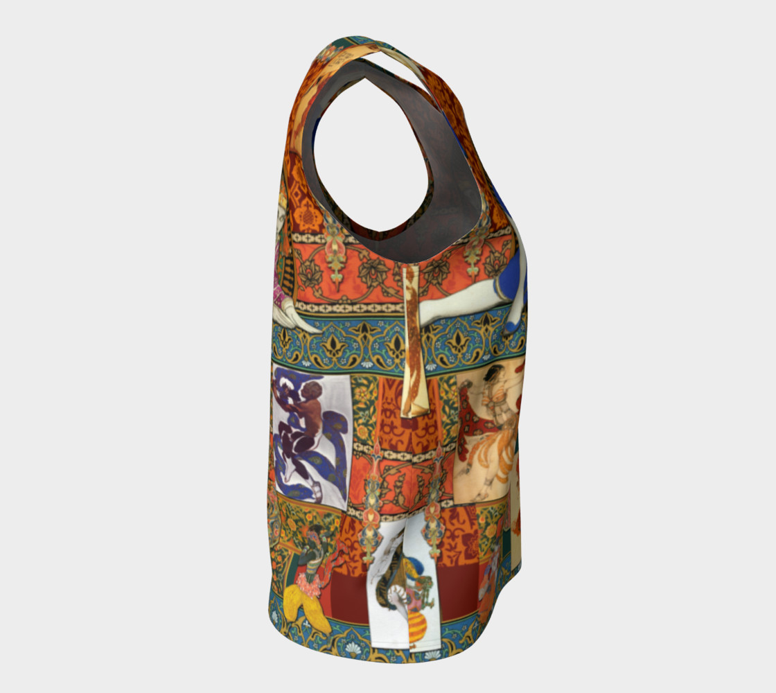 Aperçu de Ballets Russes Tapestry - Fitted Tank Top #8
