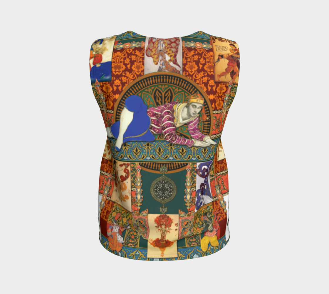 Aperçu de Ballets Russes Tapestry - Fitted Tank Top #2