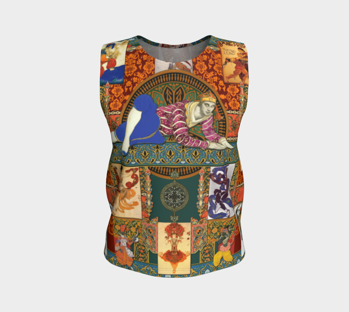 Aperçu de Ballets Russes Tapestry - Fitted Tank Top #1