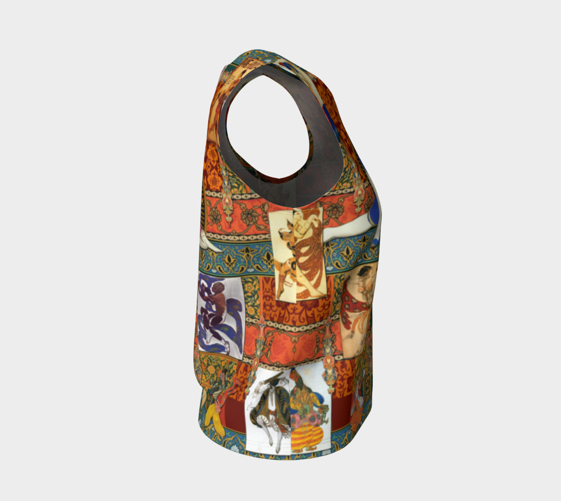 Aperçu de Ballets Russes Tapestry - Fitted Tank Top #4