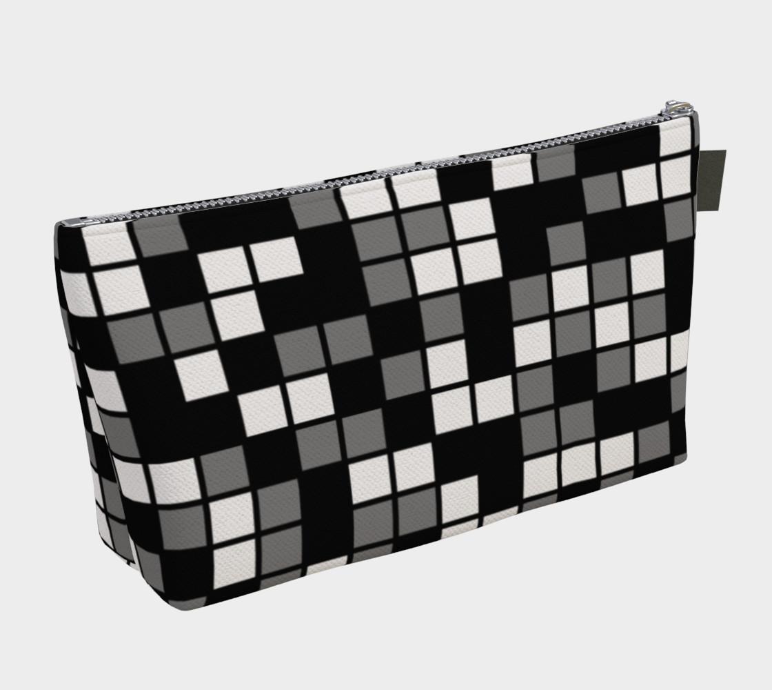 Aperçu de Grey, Black, and White Random Mosaic Squares #2