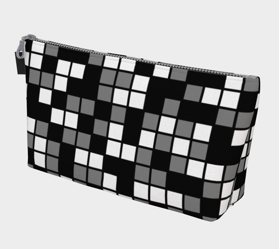 Aperçu de Grey, Black, and White Random Mosaic Squares #1