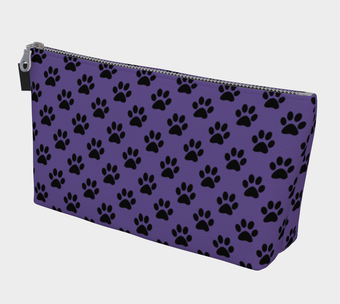 Aperçu de Black Paws on Ultra Violet Purple #1