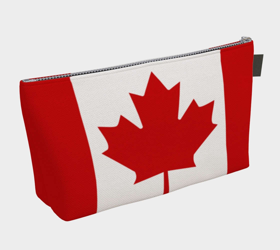 Flag of Canada, Red and White, Red Maple Leaf Makeup Bag thumbnail #3