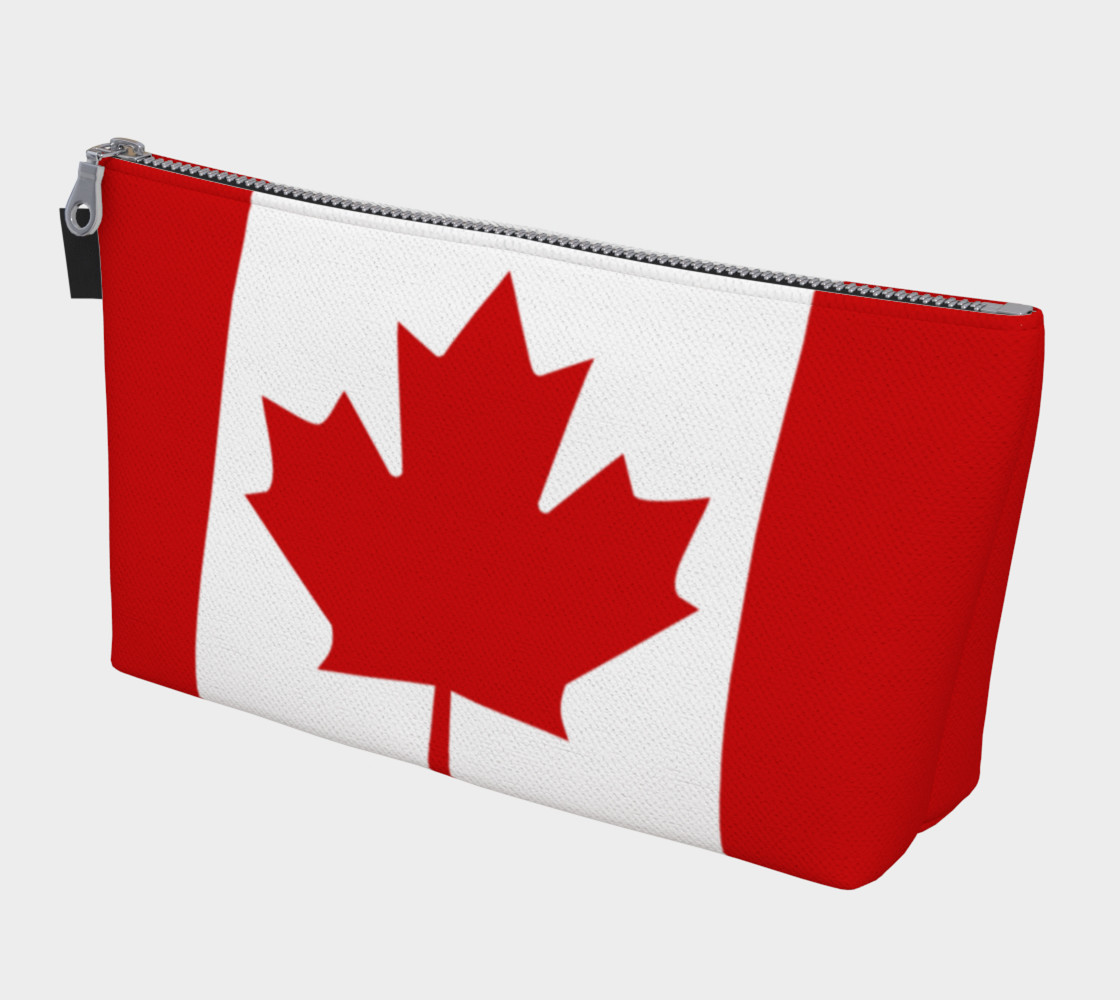 Flag of Canada, Red and White, Red Maple Leaf Makeup Bag 3D preview