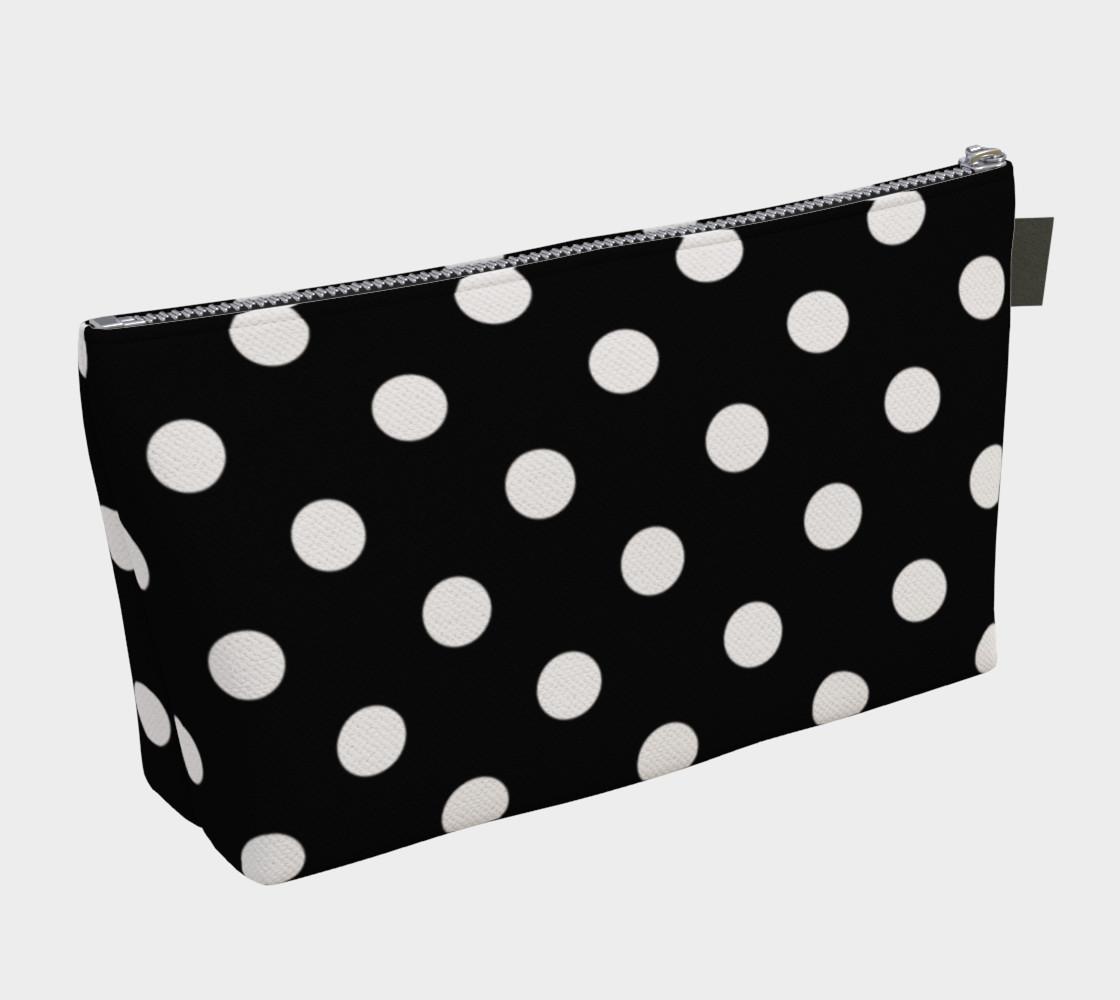 Aperçu de White Polka Dots on Black #2