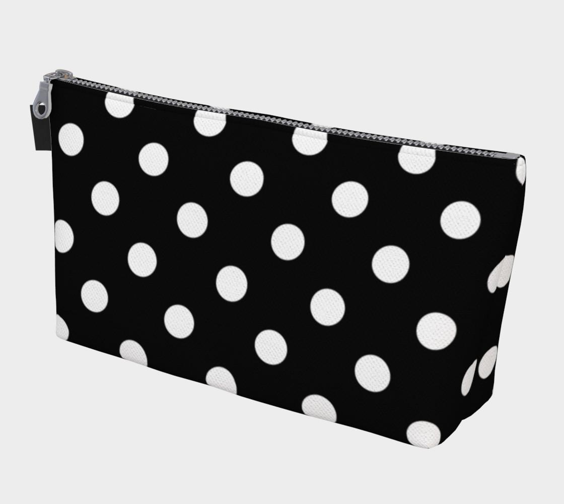 Aperçu de White Polka Dots on Black #1