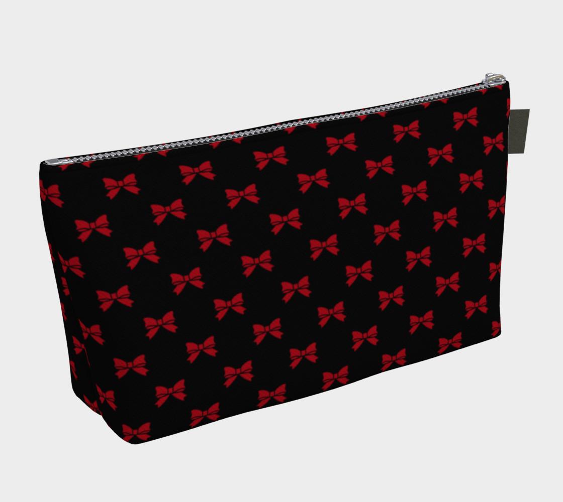 Aperçu de Dark Red Bows on Black #2