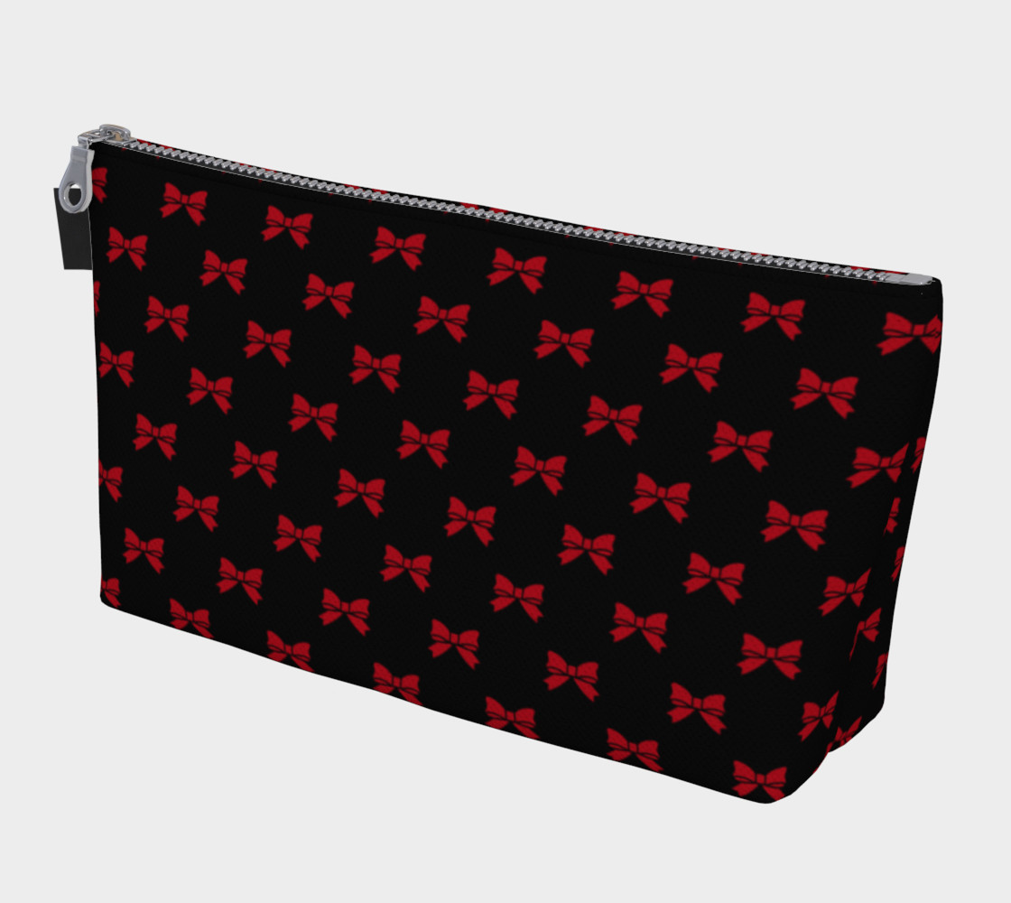 Aperçu de Dark Red Bows on Black #1