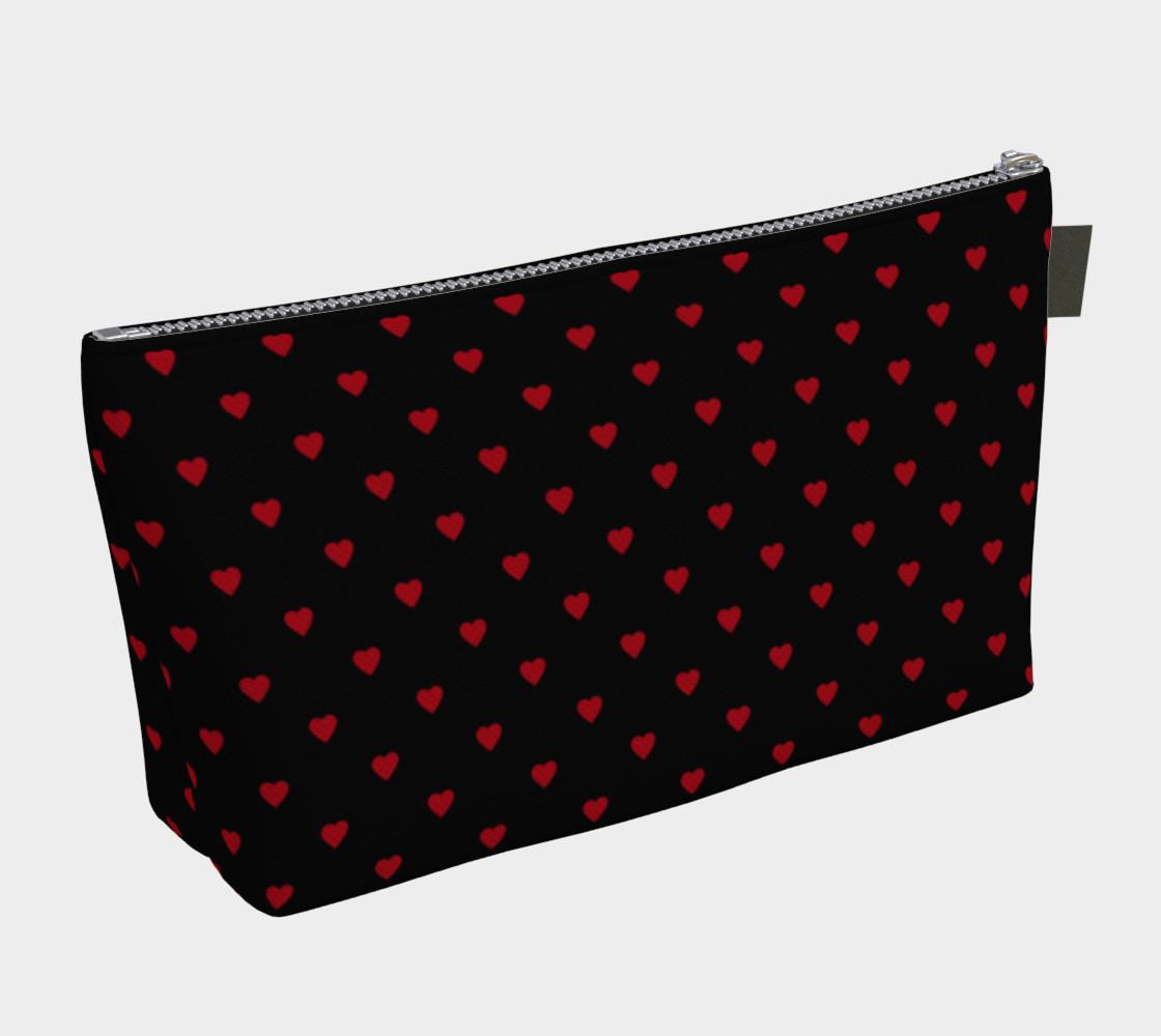 Aperçu de Dark Red Hearts on Black #2