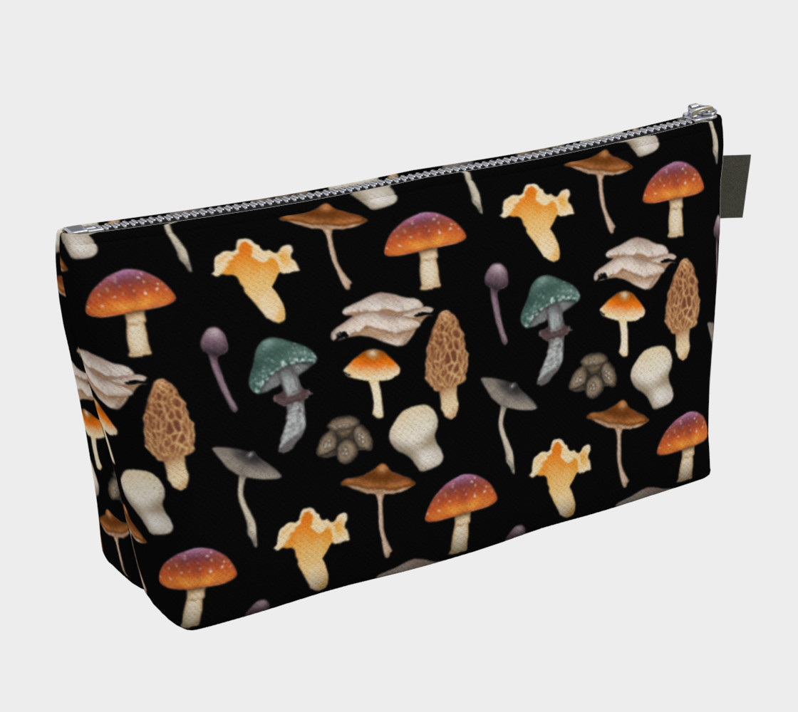 Wild Mushroom Makeup Bag with Pocket preview #2