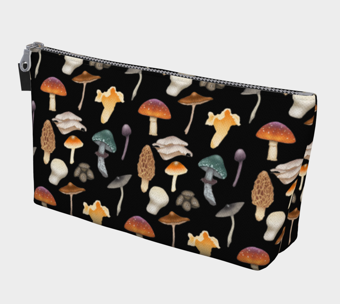 Wild Mushroom Makeup Bag with Pocket preview #1