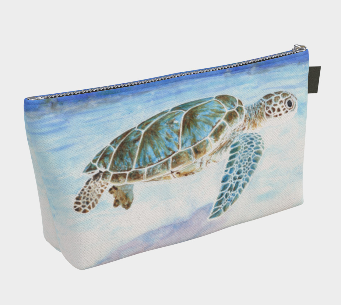 Aperçu de Sea turtle underwater Makeup Bag #2