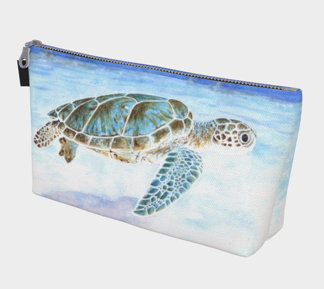 Sea turtle underwater Makeup Bag 3D preview