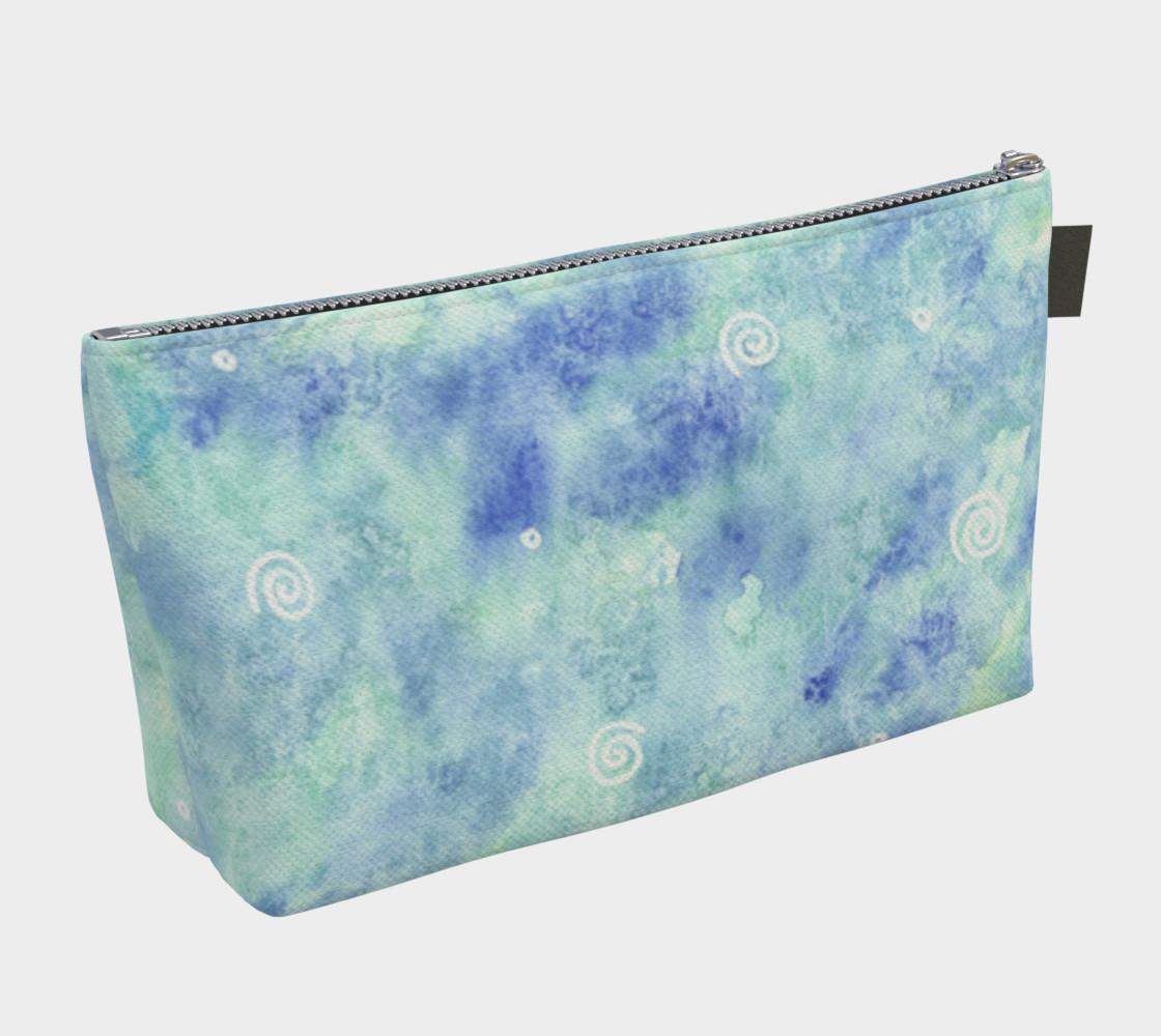 Aperçu de Blue lagoon watercolor Makeup Bag #2