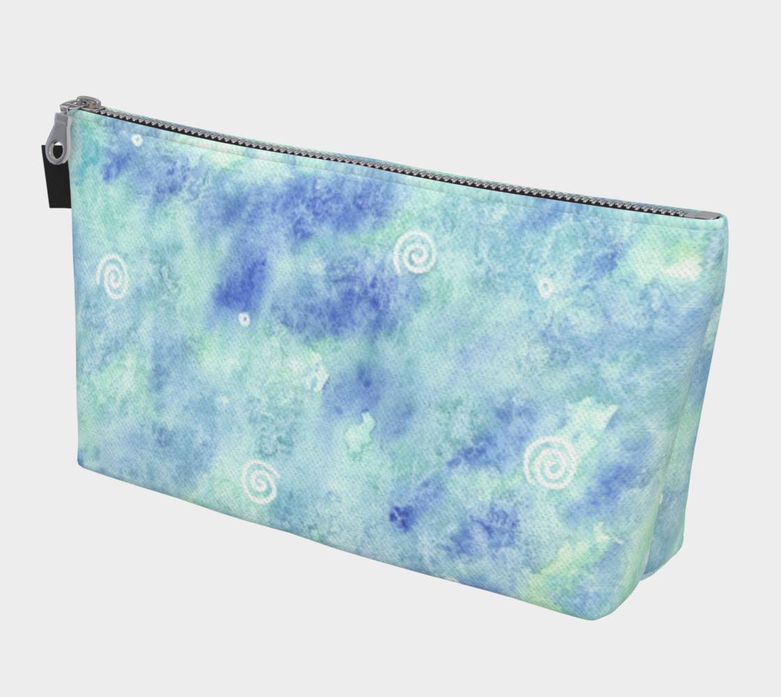 Aperçu de Blue lagoon watercolor Makeup Bag #1