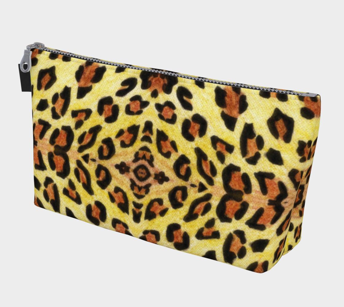Leopard Print Makeup Bag By