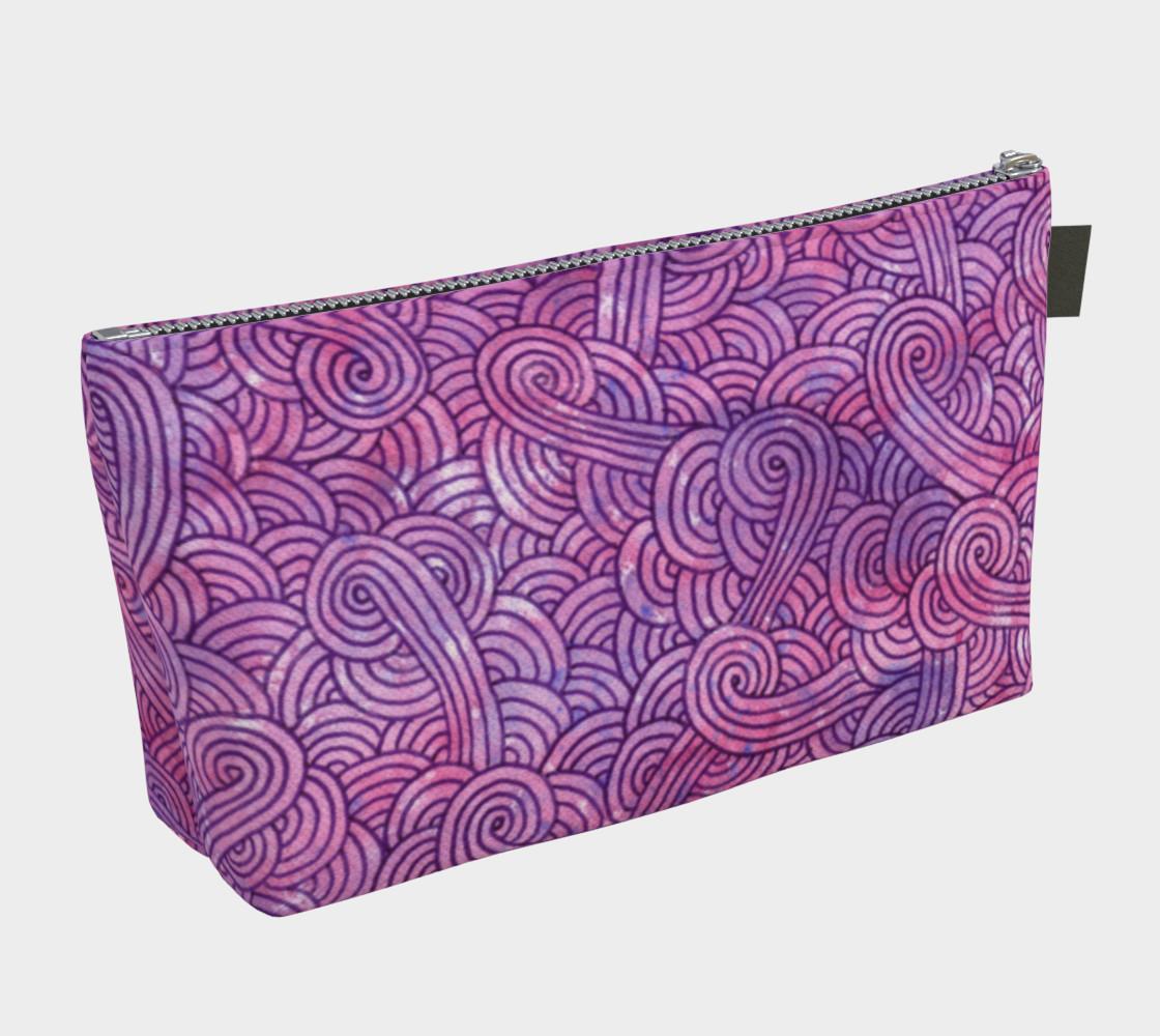 Aperçu de Neon purple and pink swirls doodles Makeup Bag #2