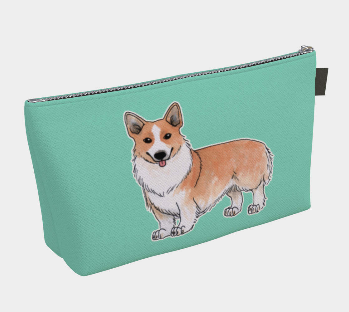 Aperçu de Welsh corgi dog Makeup Bag #2