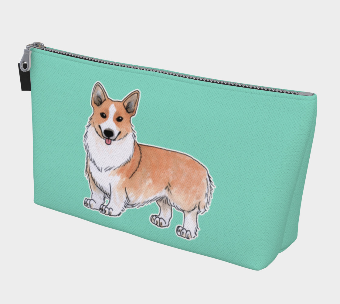 Aperçu de Welsh corgi dog Makeup Bag #1