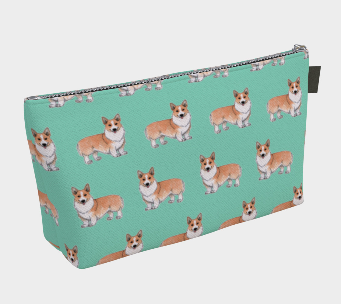 Welsh corgi dogs pattern Makeup Bag preview #2
