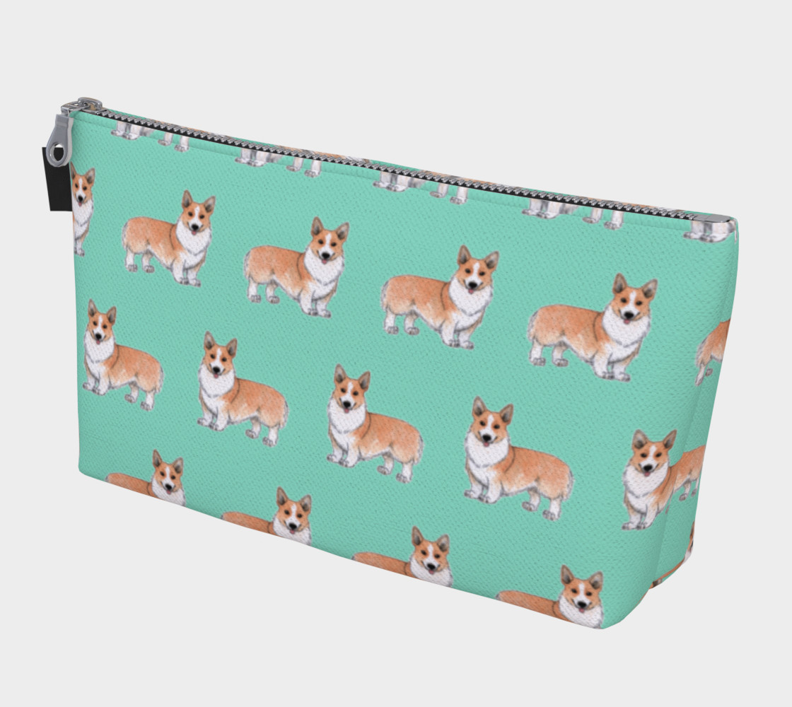 Welsh corgi dogs pattern Makeup Bag preview #1