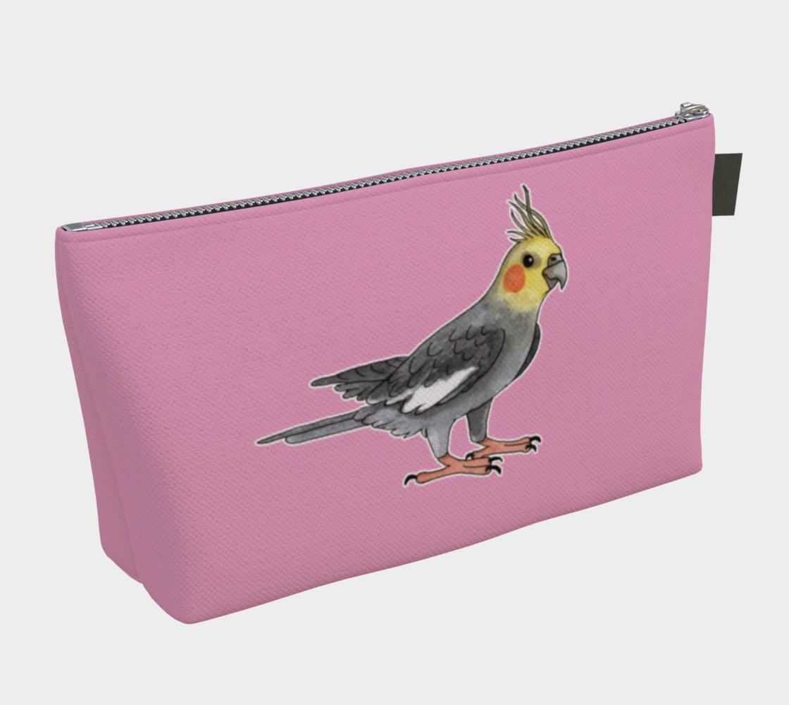 Aperçu de Cockatiel bird Makeup Bag #2