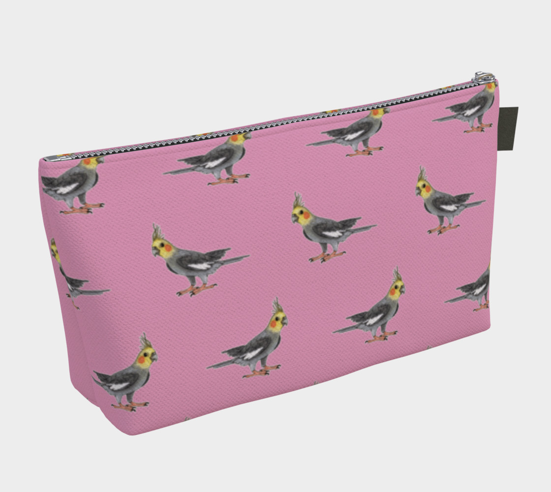 Cockateel birds pattern Makeup Bag preview #2